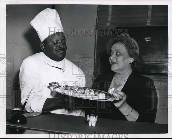 1953 Press Photo Frozen Pastries of Mrs. Howard A. Coffin & Chef John Cofer - Historic Images