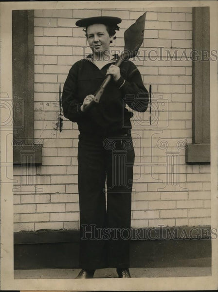 1919 Press Photo Eisie Wilson, held in the Hoboken police court - Historic Images