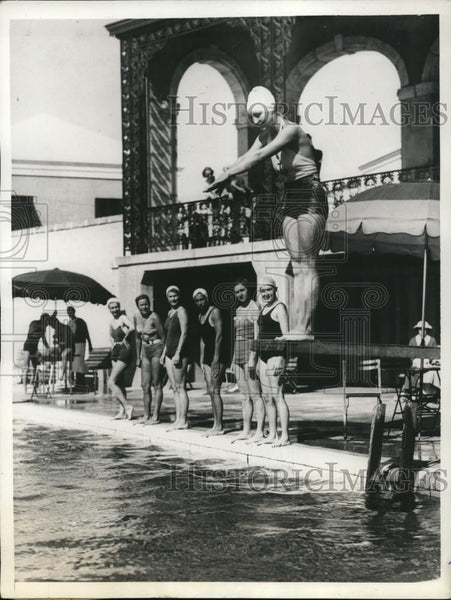 1935 Press Photo Outdoor Swimming Pool At Bermuda's Princess Hotel - Historic Images