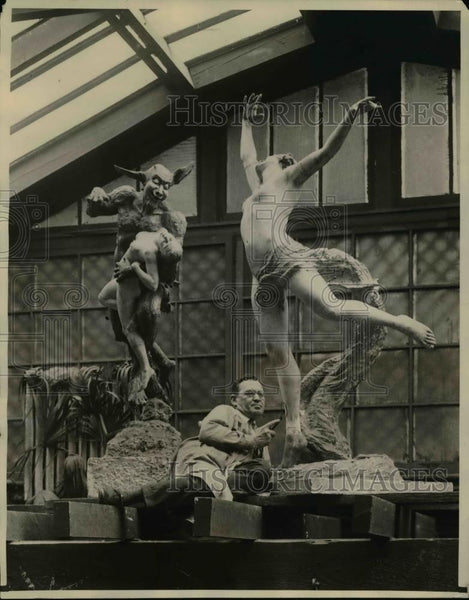 1925 Press Photo Life size model typifying youth by Alexander Zeitlin - Historic Images