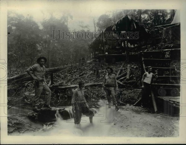 1931 Press Photo Campo Lindo Nicaraguan Canal Workers - Historic Images
