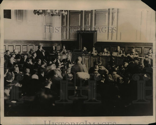 1923 Press Photo French Court In Session Trial For German Coal Barons - Historic Images