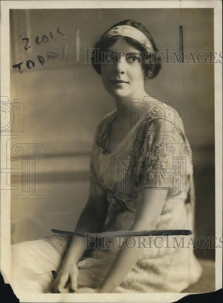 1919 Press Photo Miss Isabel Vincent daughter of Pres of Univ of MN - Historic Images