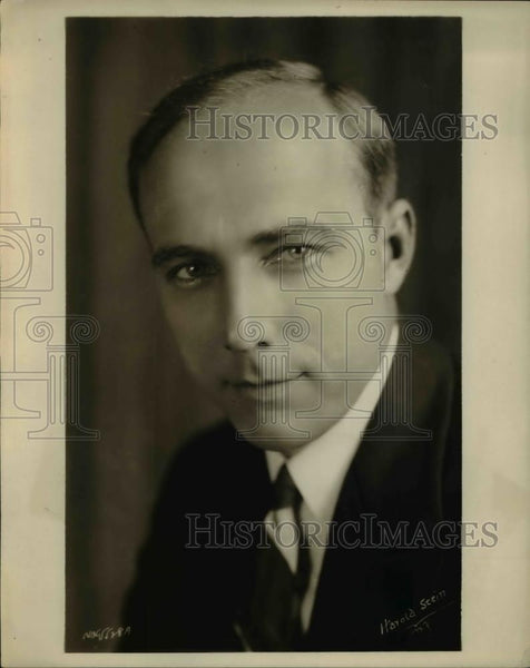 1929 Press Photo Alois Hawnilla WEAF Announcer - Historic Images