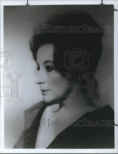 1985 Press Photo Zoe Caldwell - cvp07968 - Historic Images