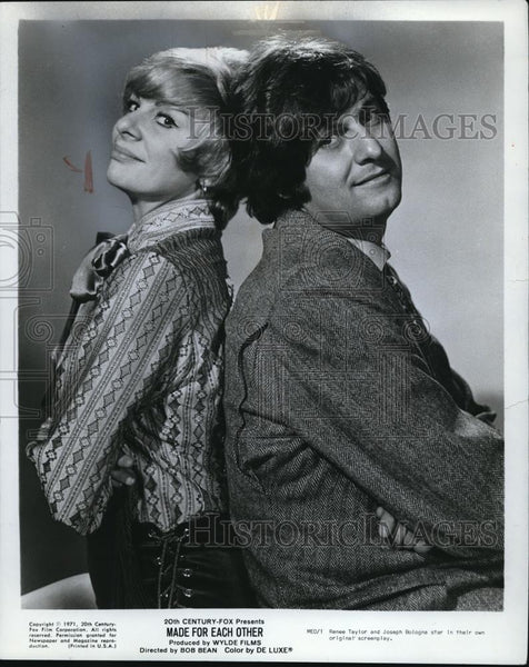 1972 Press Photo Renee Taylor and Joseph Bologna in Made For Each Other - Historic Images