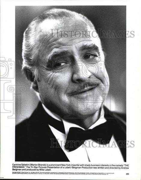 1990 Press Photo Marlon Brando in The Freshman - cvp00075 - Historic Images