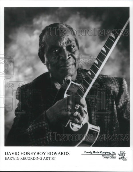 2000 Press Photo David Honeyboy Edwards Delta Blues Singer Musician Songwriter - Historic Images