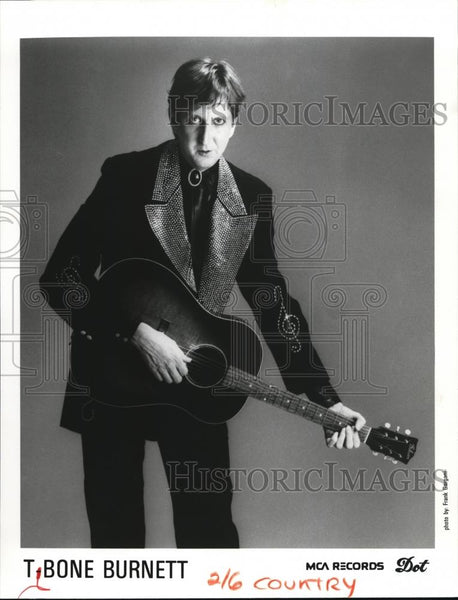 1987 Press Photo T Bone Burnett Country Musician Songwriter - cvp00071 - Historic Images