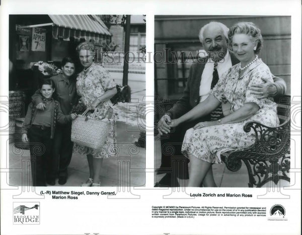 Press Photo Matthew Siegel, Danny Gerard, Marion Ross & Louis Zorich - cvp09064 - Historic Images