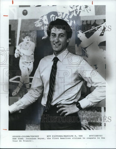 1981 Press Photo Jonathan Boyer First American To Compete Tour De France - Historic Images