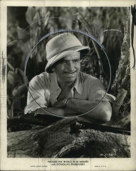 1932 Press Photo Douglas Fairbanks stars in Around the World in 80 Minutes - Historic Images