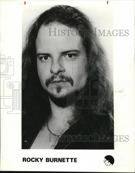 1980 Press Photo Rocky Burnette Rock Singer Musician - cvp00073 - Historic Images