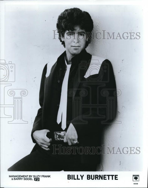 1980 Press Photo Billy Burnette Guitarist Singer Songwriter - cvp00054 - Historic Images