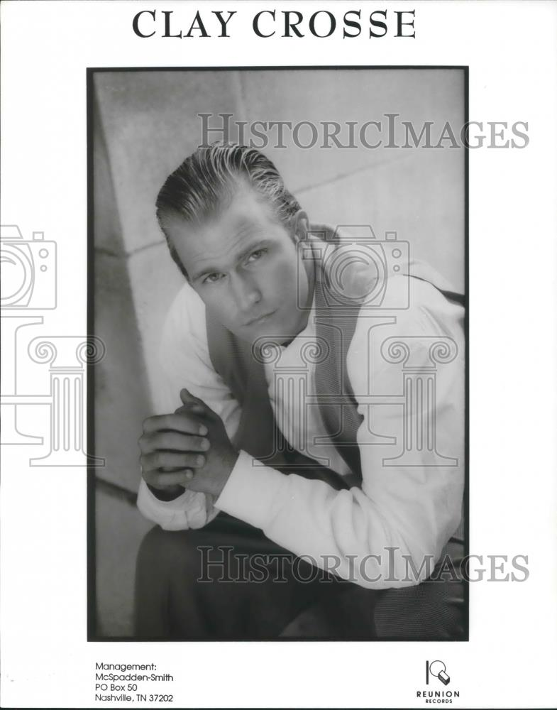 1995 Press Photo Clay Crosse Contemporary Christian Music Singer - cvp01813  - Historic Images