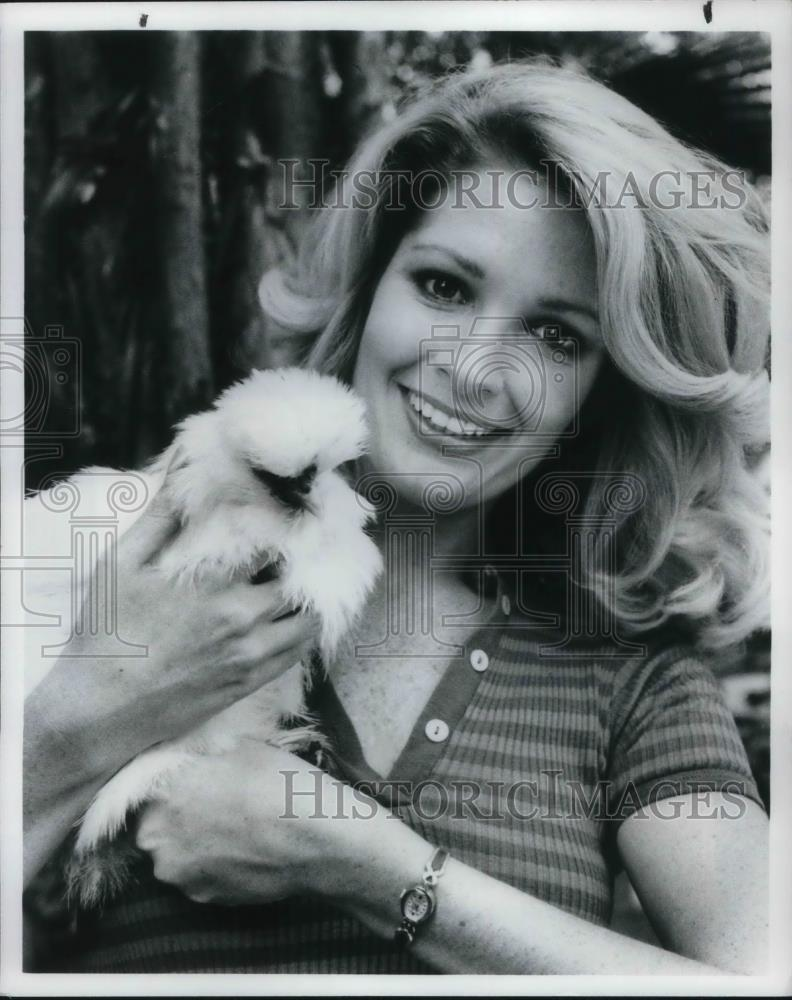 1985 Press Photo Deidre Hall Star On Days Of Our Lives With Her Pet