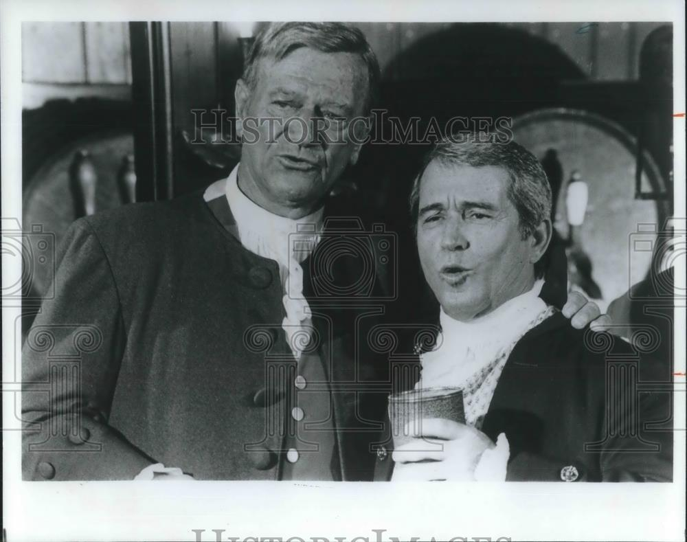 1978 Press Photo John Wayne and Perry Como Christmas in Early ...