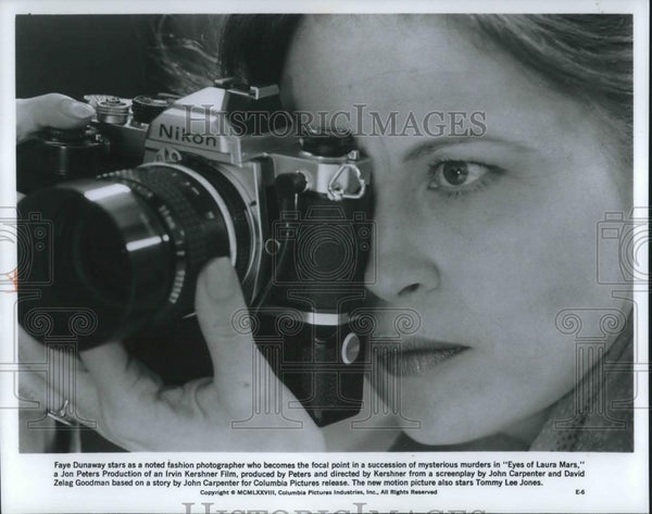 1978 Press Photo Faye Dunaway in Eyes of Laura Mars - cvp02951 - Historic Images
