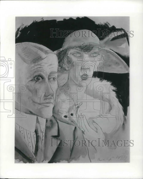 1921 Press Photo Cafe Couple by Otto Dix - cvp06948 - Historic Images