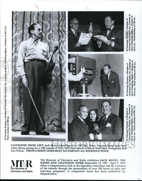 1991 Press Photo Jack Benny: The Radio and Television Work Special - cvp01369 - Historic Images