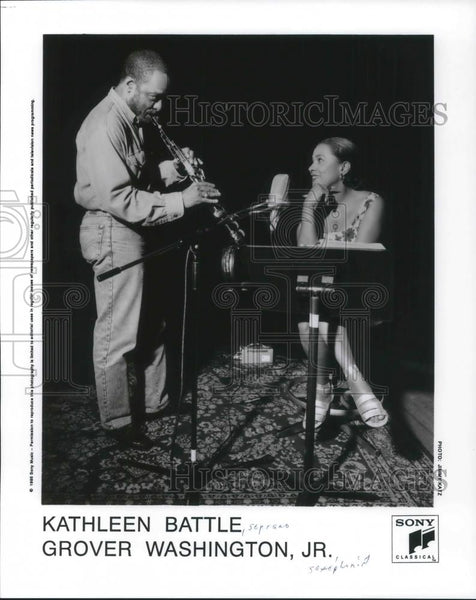 1995 Press Photo Kathleen Battle Soprano & Grover Washington Jr - cvp05208 - Historic Images