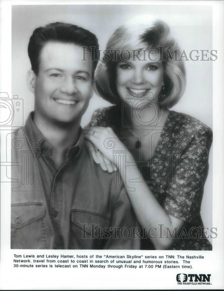 Press Photo Tom Lewis & Lesley Hamer Hosts of American Skyline - cvp10869 - Historic Images