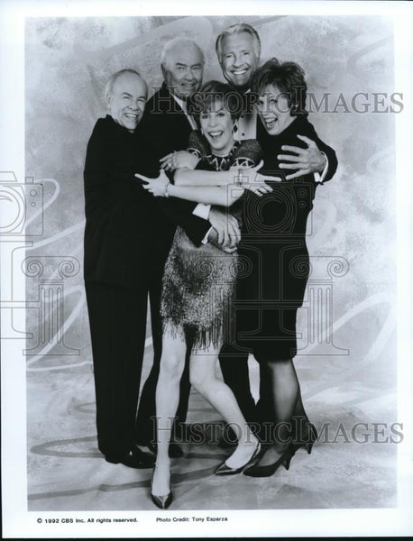 1992 Press Photo Carol Burnett Tim Conway Harvey Korman Lyle Waggoner - Historic Images