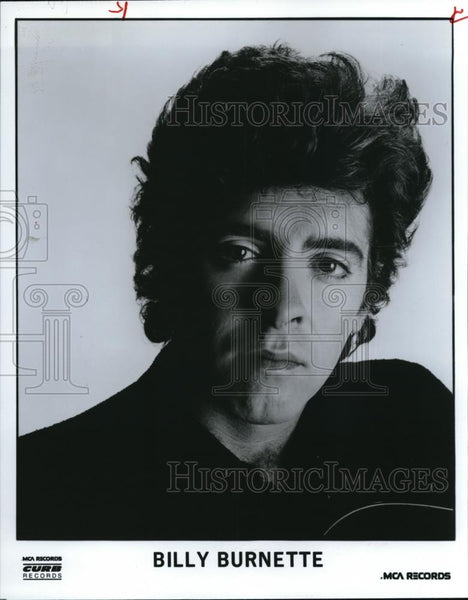 1986 Press Photo Billy Burnette Guitarist Singer Songwriter Fleetwood Mac - Historic Images