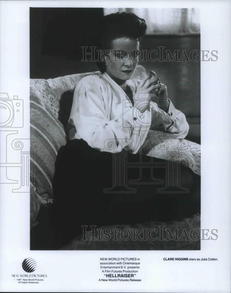 1987 Press Photo Clare Higgins in Hellraiser - cvp10879 - Historic Images