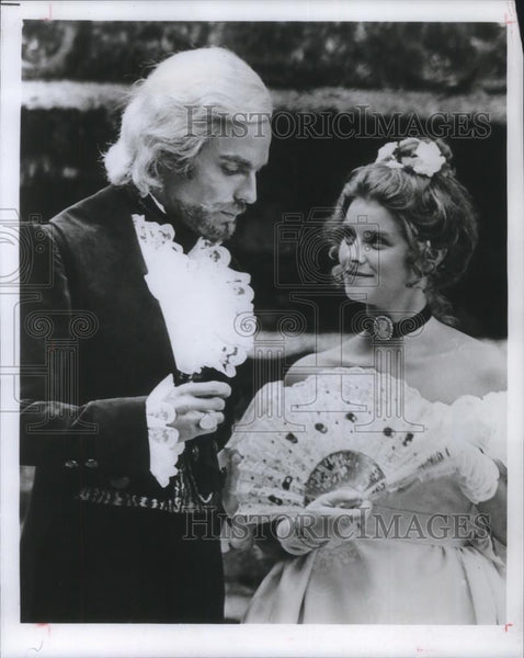 1976 Press Photo Richard Chamberlain and Taryn Power The Count of Monte Cristo - Historic Images
