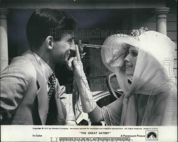 1974 Press Photo Sam Waterson & Mia Farrow in The Great Gatsby - cvp10273 - Historic Images