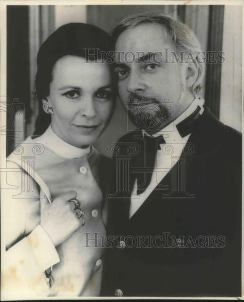 1969 Press Photo Claire Bloom and Hillard Etkins Actor Announce Engagement - Historic Images