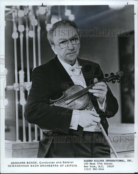 1984 Press Photo Gerhard Bosse Conductor Soloist Gewandhaus Bach Orchestra - Historic Images