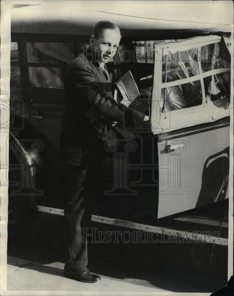 1930 Press Photo Johnny Morse as he returned to Chicago - Historic Images