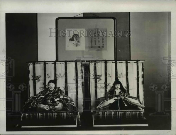 1932 Press Photo Dolls for Japanese Emperor's daughter by Guilo Co - Historic Images