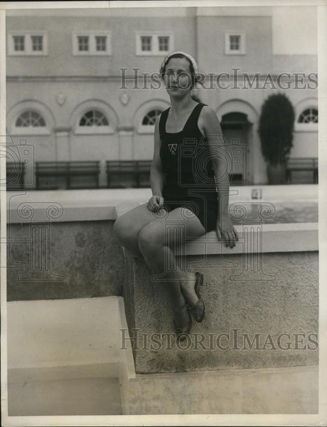1931 Press Photo Ms. Ruth Goerke at Breaker Casino, Palm Beach in Florida - Historic Images