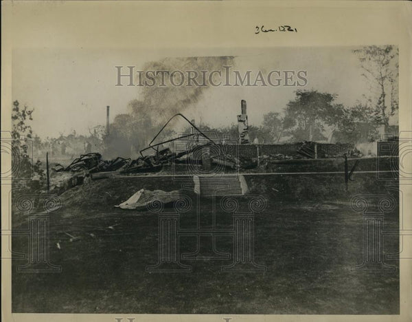1924 Press Photo Ruins of Hillcress Hotel - Historic Images