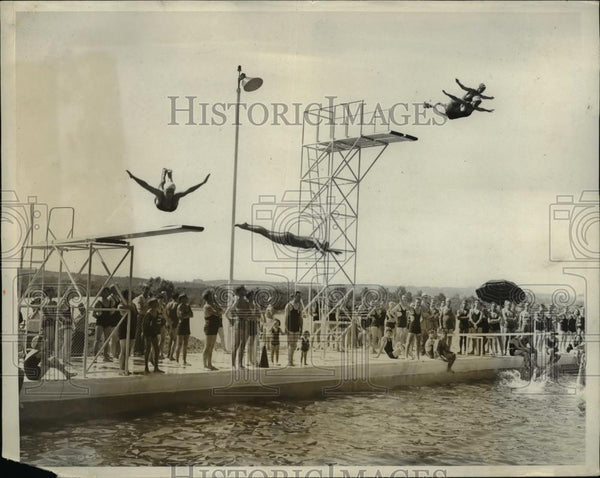 1931 Press Photo Divers of the Washington Swimming Club in Washington, D.C. - Historic Images