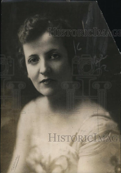 1918 Press Photo Augusta Christina Glass now Mrs Robert McAllen - Historic Images