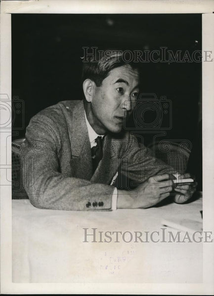 1937 Press Photo Tamao Sakamoto New Chief Secretary of Japanese Embassy - Historic Images