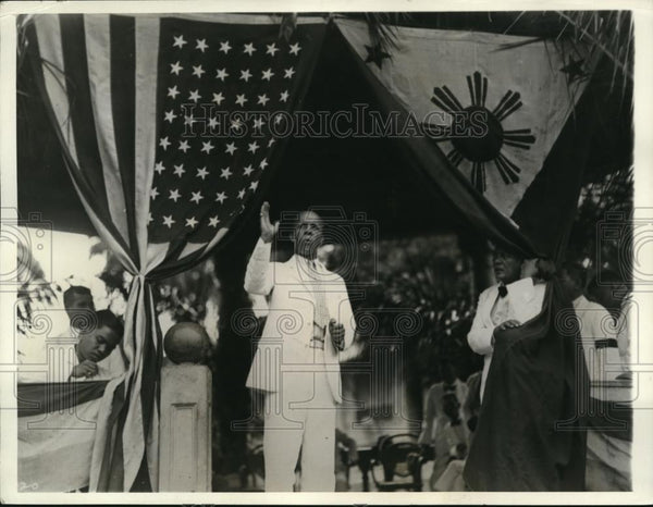 1932 Press Photo Theodore Roosevelt in Zamboanga, P I - Historic Images