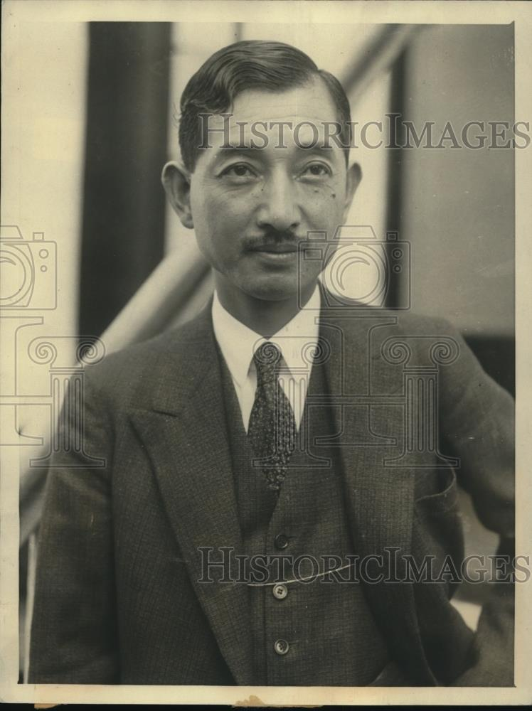 1932 Press Photo Mr. Hiroshi Saito arriving from europe - Historic Images