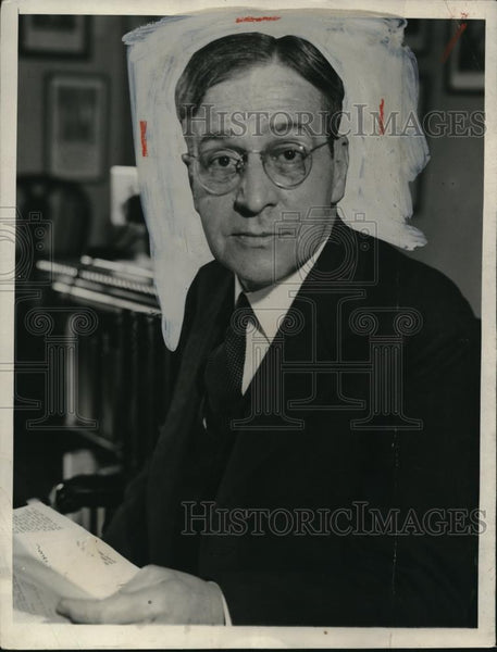 1932 Press Photo Newton D Baker Former Secretary of War - Historic Images