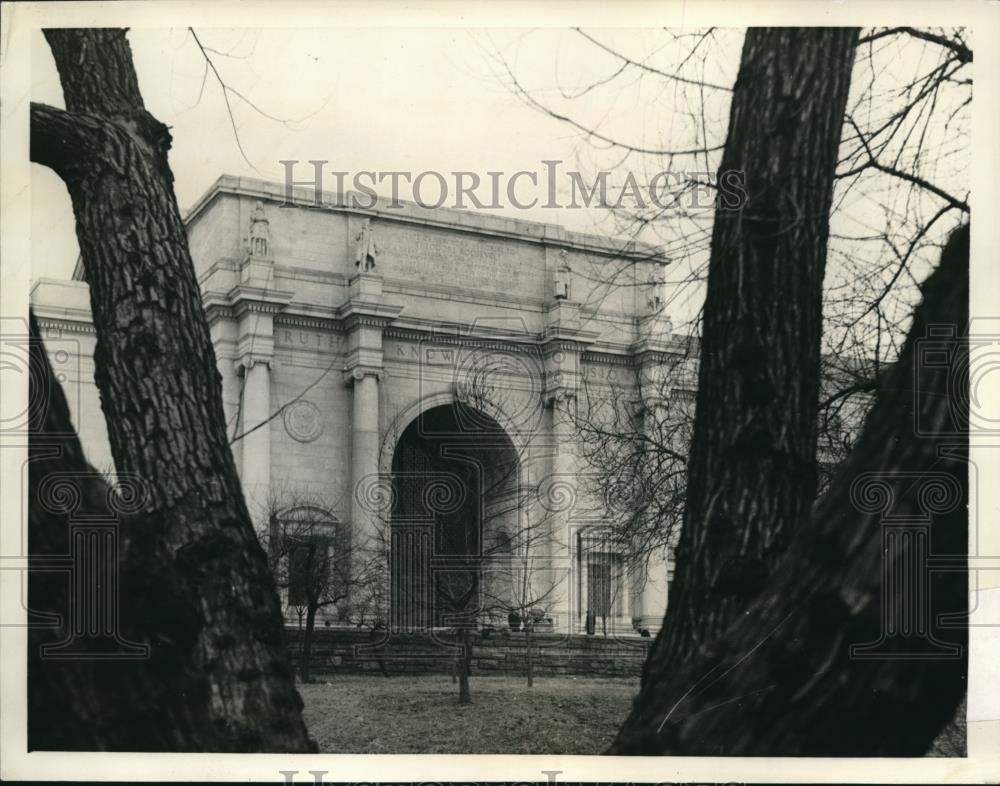 1930 Press Photo Memorial building in New York dedicated to President Roosevelt - Historic Images