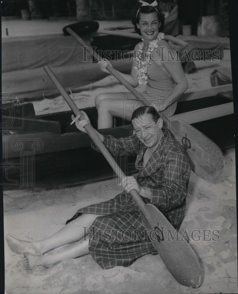 1949 Press Photo Billy Rose in Hawaii - Historic Images