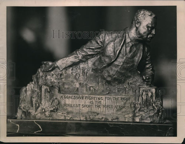 1923 Press Photo Roosevelt Statue in Washington - Historic Images