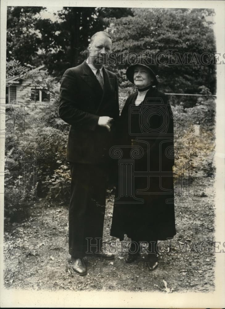 1932 Press Photo Robert R. Reynolds and Mrs. N.A. Reynolds - Historic Images