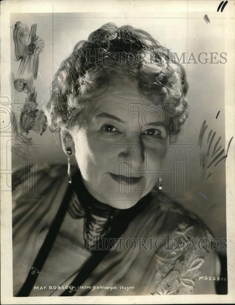 1933 Press Photo May Robson - Historic Images