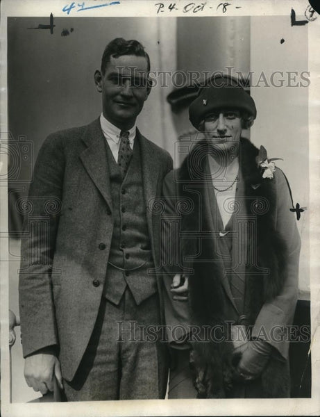 1925 Press Photo Isabelle Rockefeller Marries Frederic Walker Lincoln - Historic Images