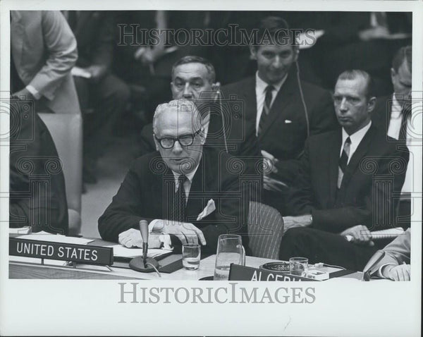 1968 Press Photo George Ball (United States) addressing the Council - Historic Images